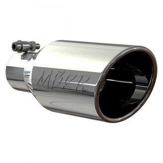MBRP® - 304 SS Rolled Edge Angle Cut Bolt-On Exhaust Tip
