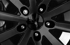 McGard® - Wheel Lock Installed on Black Wheels
