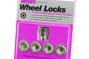 McGard® - Chrome Cone Seat Under Hub Cap Wheel Lock Set