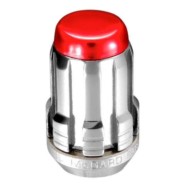 McGard® - Chrome with Red Cap SplineDrive Cone Seat Lug Nut Set