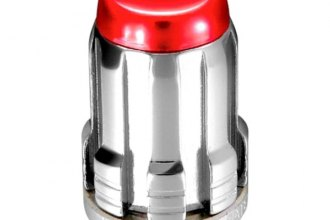 McGard® - Chrome with Red Caps Cone Seat SplineDrive Lug Nut Set - M12 x 1.5 Thread Size