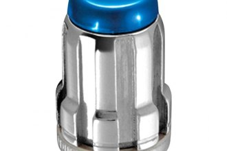 McGard® 65457BC - Chrome with Blue Cap SplineDrive Cone Seat Wheel Installation Kit