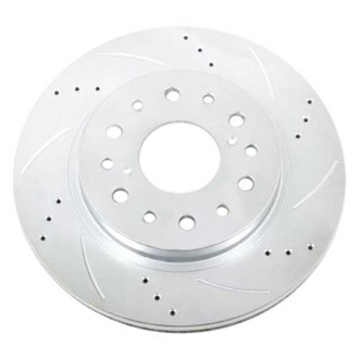 McGaughy's® - Drilled Vented 1-Piece Front Brake Rotor