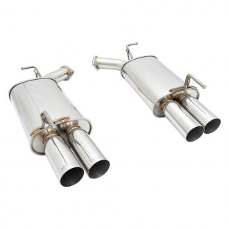 Megan Racing® - Stainless Steel Axle-Back Exhaust System with Quad Rear Exit
