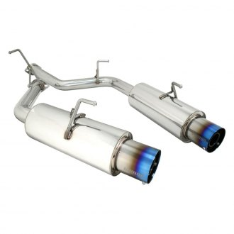 Megan Racing® - Turbo Type Stainless Steel Axle-Back Exhaust System with Split Rear Exit