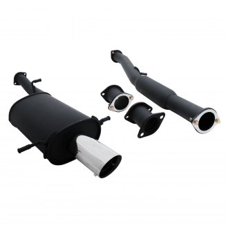 Megan Racing® - Black Series Stainless Steel Cat-Back Exhaust System with Single Rear Exit