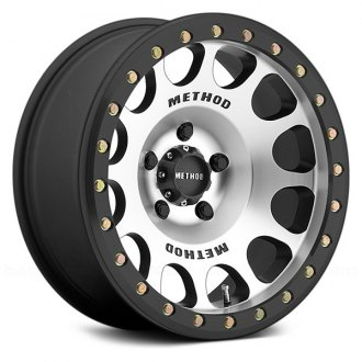 METHOD RACE® - 105 BEADLOCK Matte Black with Machined Face and Ring