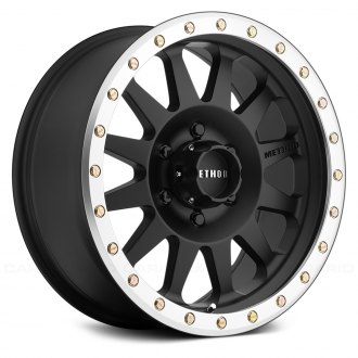 METHOD RACE WHEELS® - 304 DOUBLE STANDARD Matte Black with Machined Lip