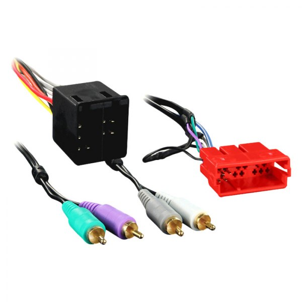 Aftermarket Radio Stereo Plug Adapter Amplifier Intergration Wire Harness Cable