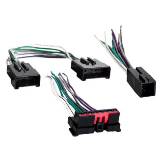 Metra® - Aftermarket Radio Wiring Harness with OEM Plug and Amplifier Bypass for Old Radio