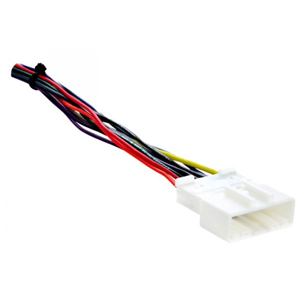 Metra® - Aftermarket Radio Wiring Harness with OEM Plug on nissan exhaust, nissan fuse, nissan speedometer, nissan radio harness, nissan alternator, nissan oil filter, nissan engine, nissan body harness, nissan ecu, nissan headlights, nissan transformer, nissan lights, nissan water pump, nissan throttle body, nissan starter, nissan brakes, nissan timing belt, nissan timing chain, nissan radiator, nissan fuel pump,