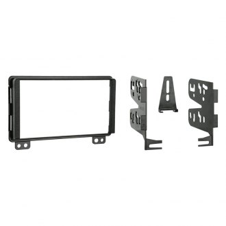 Metra® - Double DIN Black Stereo Dash Kit with Rear Support Brackets