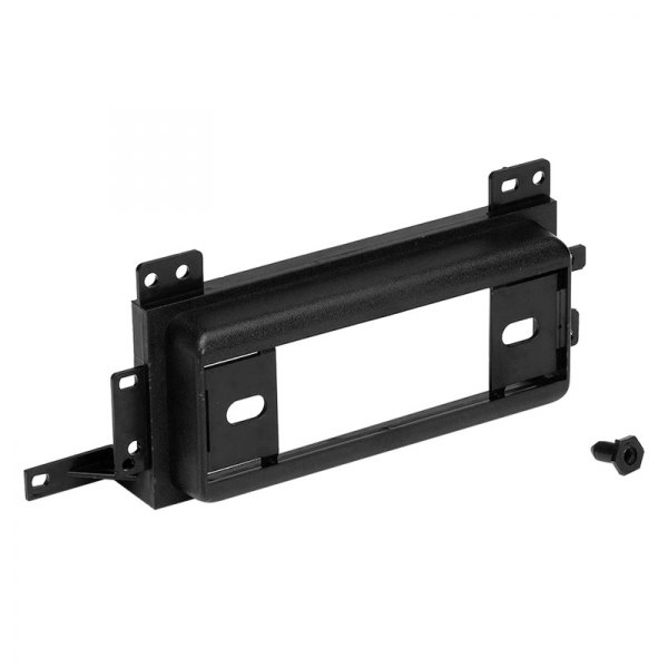Metra® - Single DIN Black Stereo Dash Kit with Rear Support, DIN to 2-Shaft Conversion