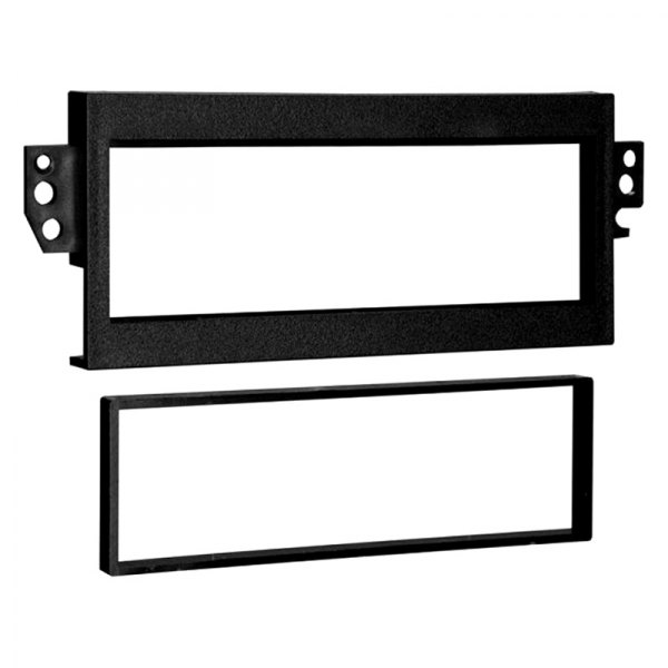 Metra® - Single DIN Black Stereo Dash Kit, DIN to 2-Shaft Conversion