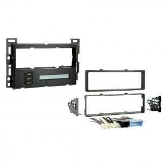 Metra® - Single DIN Black Stereo Dash Kit, Retains Drivers Information Center