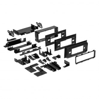 Metra® - Single DIN Black Stereo Dash Multi Kit with Brackets