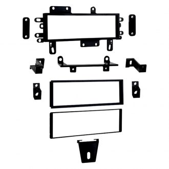 Metra® - Single DIN Black Stereo Dash Kit with Pocket, DIN to 2-Shaft Conversion