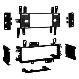 Metra® - Single/Double DIN Black Stereo Dash Kit, DIN to 2-Shaft Conversion