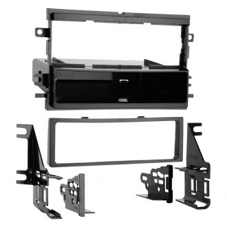 Metra® - Single DIN Black Stereo Dash Kit with Trim Plate, Brackets and Spacers