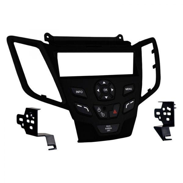 Fits Ford Fiesta 2011 w//o Sync SDIN Harness Radio Install Kit Silver Dash