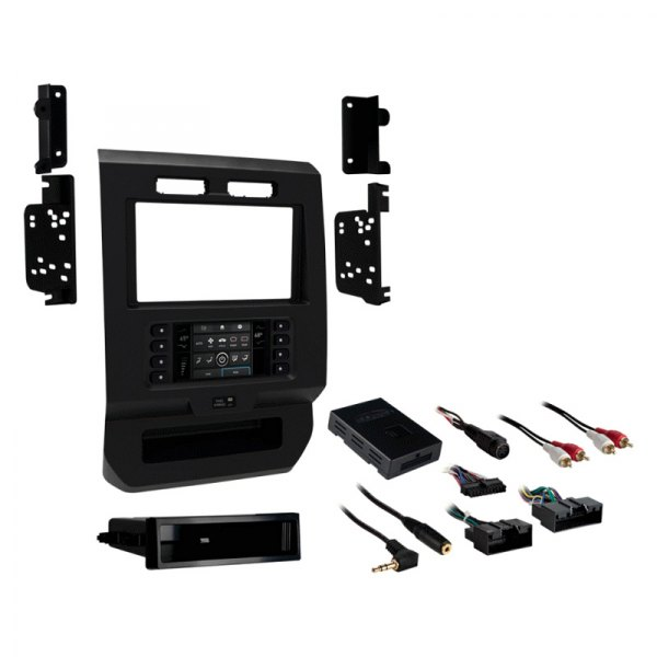 metra® - ford f-150 2017 single/double din charcoal stereo ... 04 f150 radio wiring diagram #13