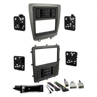 Metra® - Single/Double DIN Charcoal with Matte Black Center Stereo Dash Kit