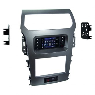 Metra® - Single/Double DIN Charcoal Gray Stereo Dash Kit