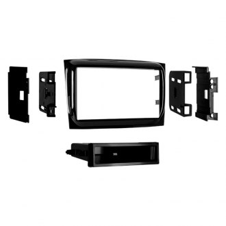 Metra® - Single/Double DIN High Gloss Black Stereo Dash Kit with Pocket
