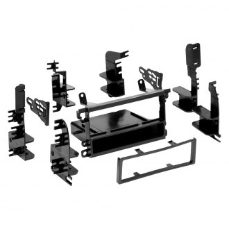 Metra® - Single DIN Black Stereo Dash Kit with Brackets and Trim Plate