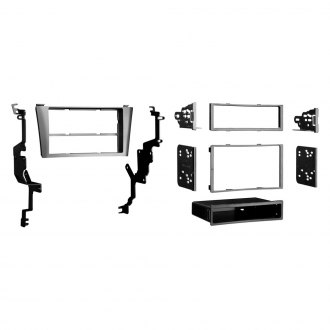 Metra® - Single/Double DIN Gray Stereo Dash Kit