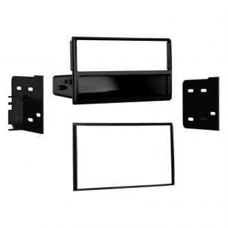 Metra® - Single/Double DIN Black Stereo Dash Kit with Radio Housing