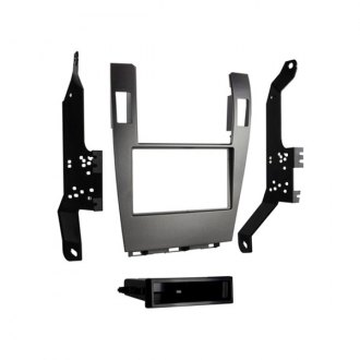 Metra® - Single/Double DIN Gray Stereo Dash Kit with Pocket