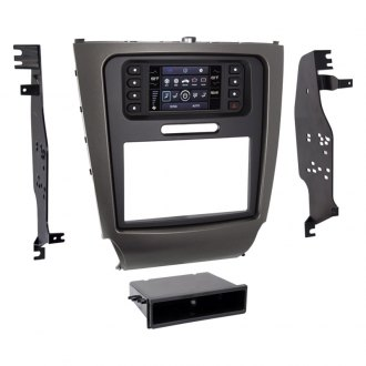 "Metra® - Single/Double DIN Gray Stereo Dash Kit with Factory 4.3"" Screen"