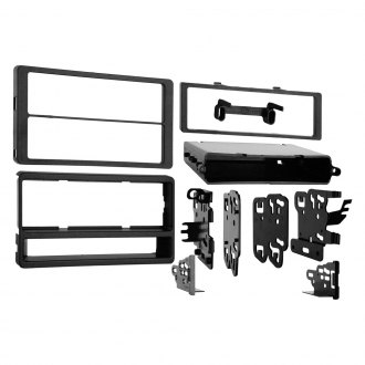 Metra® - Single/Double DIN Black Stereo Dash Kit with Faceplate, Pocket and Spacers