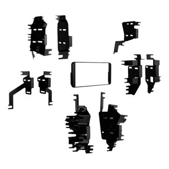 Metra® - Single/Double DIN Black Multi-Installation Stereo Dash Kit with Pocket and Brackets