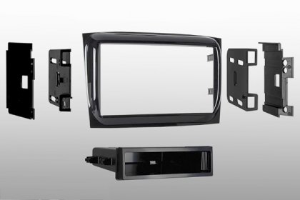 99-6531HG - Metra® Single/Double DIN High Gloss Black Stereo Dash Kit with Pocket (HD)