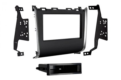 99-7627HG - Metra® Single/Double DIN High Gloss Black Stereo Dash Kit with Pocket and Wire Harness (HD)