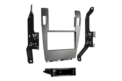 99-8162G - Metra® Single/Double DIN Gray Stereo Dash Kit with Pocket (HD)