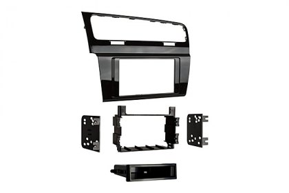 99-9013HG - Metra® Single/Double DIN Black Stereo Dash Kit with Brackets (HD)