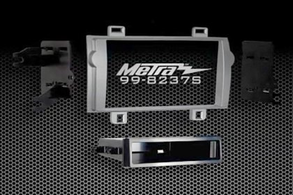 95-8237S - Metra® Double DIN Silver Stereo Dash Kit