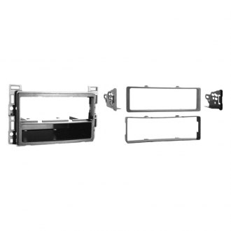 Metra® - Single DIN Silver Stereo Dash Kit