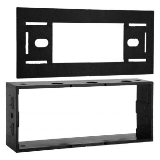 Metra® - Single DIN Black Stereo Dash Kit with Trim Plate