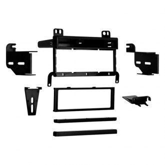 Metra® - Single DIN Black Stereo Dash Kit with Equalizer Dummy Plate