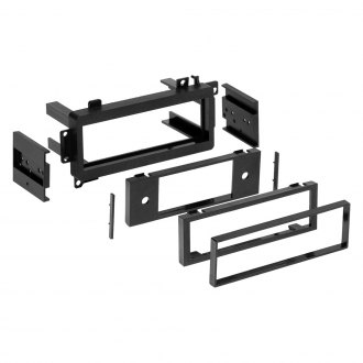 Metra® - Single DIN Black Stereo Dash Kit with Trim Plate and Brackets