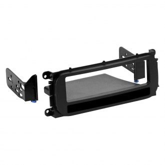 Metra® - Single DIN Black Stereo Dash Kit with Brackets