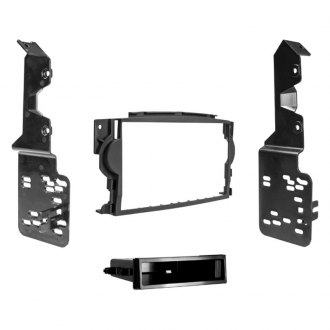 Metra® - Single/Double DIN Matte Black Stereo Dash Kit with Pocket