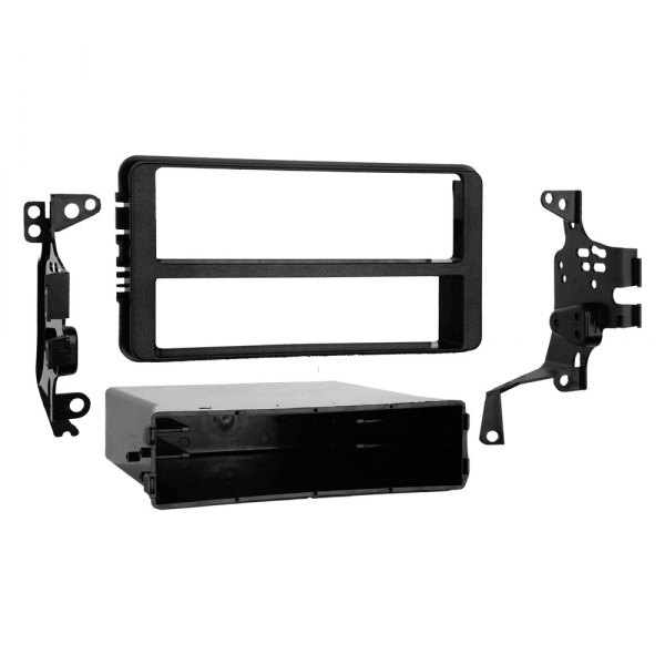 Metra® - Single DIN Black Stereo Dash Kit, Factory Dashboard Contoured