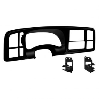 Metra® - Double DIN Black Stereo Dash Panel Kit with Message Center in the Factory Instrument Cluster