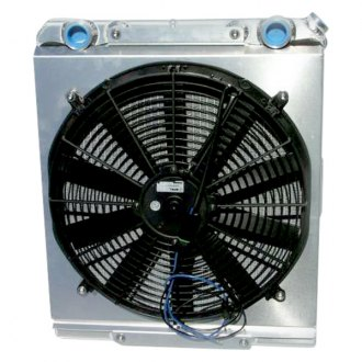Meziere Enterprises® - Dragster Downflow Radiator with Fan and Shroud