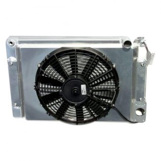 Meziere Enterprises® - Crossflow Radiator with Fan and Shroud